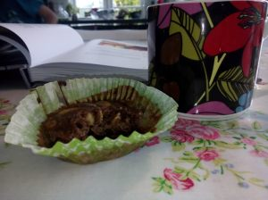 Superdupermuffins med kakao, quinoamüsli och smör